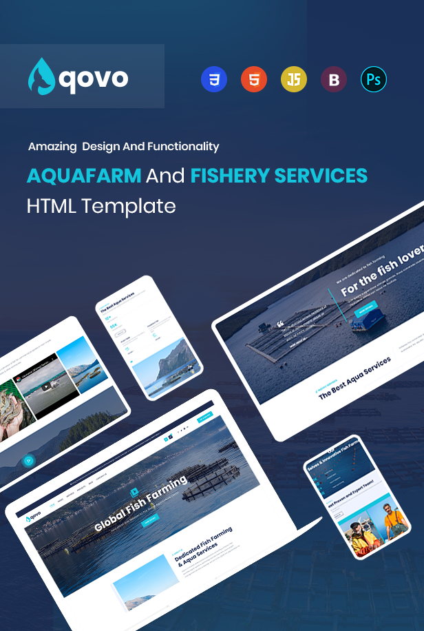 Aqua Farm & Fishery Services HTML Template